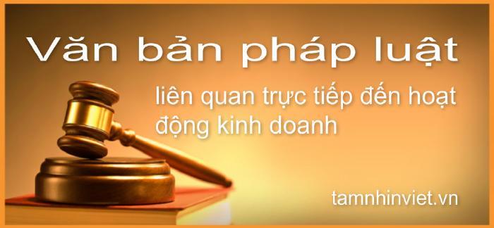 Văn bản pháp luật có liên quan trực tiếp đến kế toán và thuế